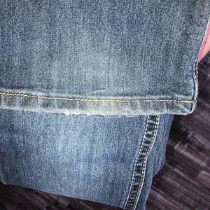 Indigo Blue Jeans - Distressed Indigo Blue Maternity jeans
